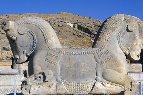 Two-Faced Capital, with Double Bull's Head, from Throne Room or Room of Hundred Columns, Persepolis--Photographic Print