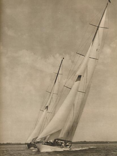 'Two Famous Yachts in an exciting contest', 1936-Unknown-Photographic Print