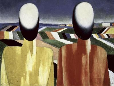 Two Farmers-Kasimir Malevich-Giclee Print