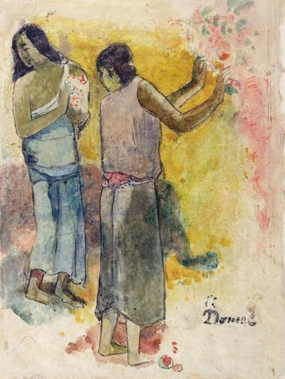 Two Figures, Study for 'Faa Iheiche', 1898-Paul Gauguin-Giclee Print