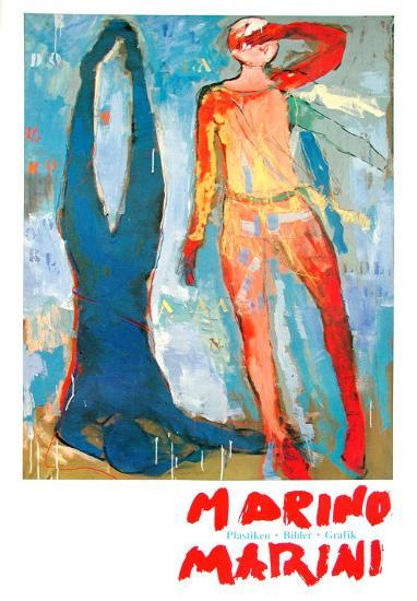 Two Figures-Marino Marini-Art Print