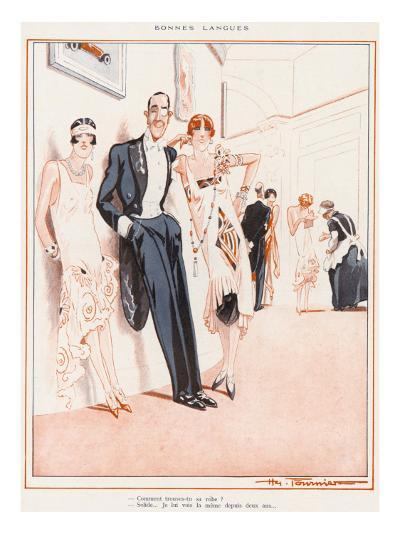 Two Flappers and their Friend--Giclee Print
