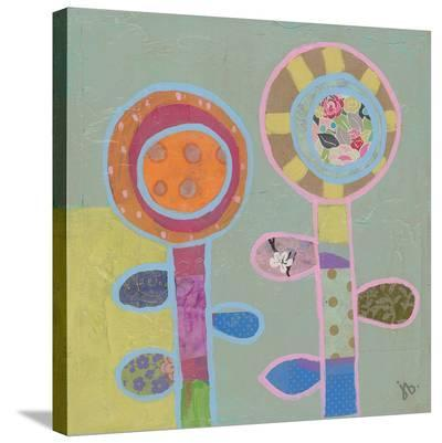 Two Flowers (1)-Julie Beyer-Stretched Canvas Print