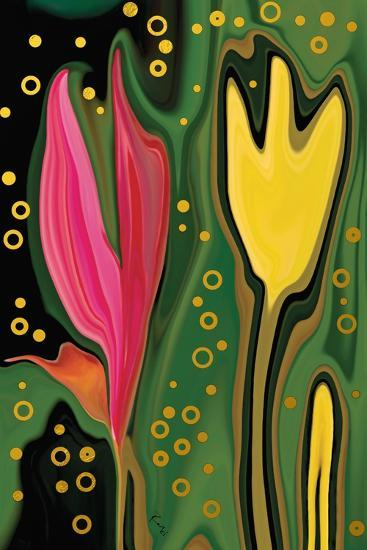 Two Flowers-Rabi Khan-Art Print