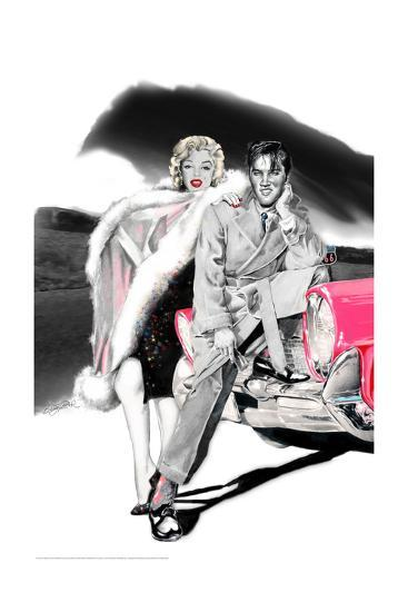 Two for the Road-Betty Harper-Art Print