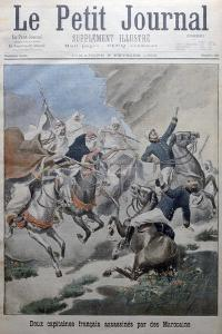 Two French Army Captains Attacked and Killed by Morrocans, Morocco, 1902