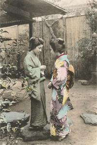 Two Geishas Talking