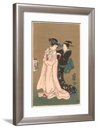 Two Geishas--Framed Art Print