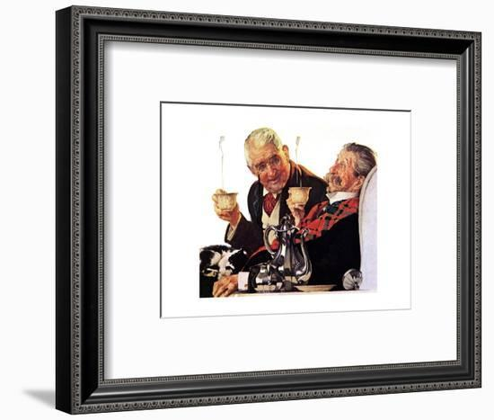 Two Gentlemen with Coffee-Norman Rockwell-Framed Giclee Print