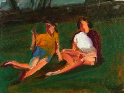 Two Girls, 2004-Daniel Clarke-Giclee Print