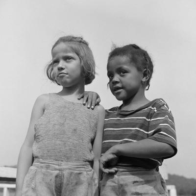 Two Girls at Camp Christmas Seals, a Racially Integrated Summer Camp in Haverstraw, NY-Gordon Parks-Photo