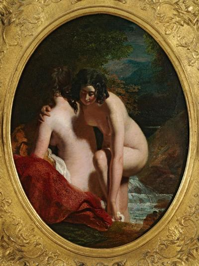 Two Girls Bathing (Oil on Panel)-William Etty-Giclee Print
