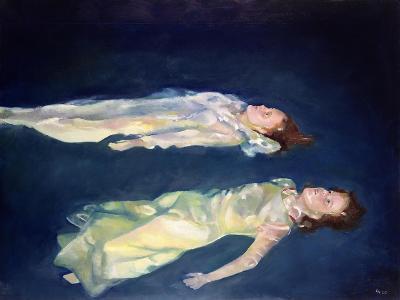 Two Girls Floating, 2004-Lucinda Arundell-Giclee Print