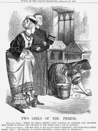 Two Girls of the Period, 1869-John Tenniel-Giclee Print