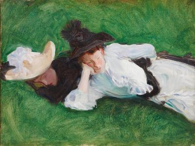 Two Girls on a Lawn, 1889-John Singer Sargent-Giclee Print