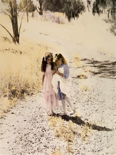 Two Girls on Path-Nora Hernandez-Giclee Print