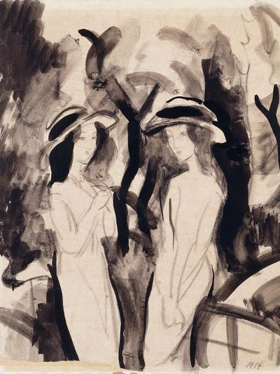 Two Girls; Zwei Madchen, 1914-Auguste Macke-Giclee Print