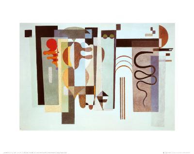 Two Green Points-Wassily Kandinsky-Art Print