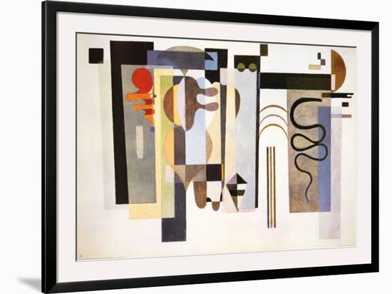 Two Green Points-Wassily Kandinsky-Framed Art Print