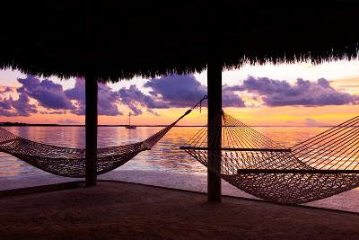 Two Hammocks at Sunset - View of Gulf of Mexico - Florida - USA-Philippe Hugonnard-Photographic Print