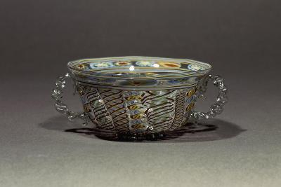 Two-Handled Bowl in Decorated Crystal Glass, Italy, 16th-17th Century--Giclee Print