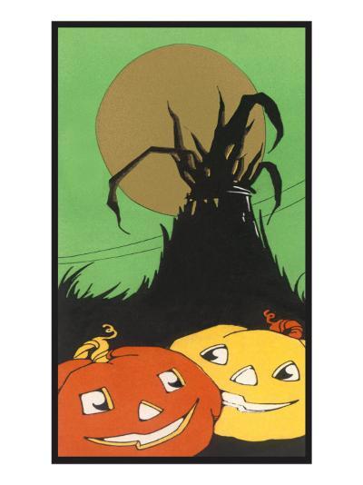 Two Happy Jack O'Lanterns--Art Print