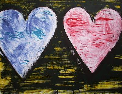Two Hearts-Jim Dine-Limited Edition
