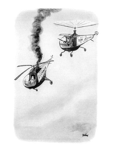 "Two helicopters sporting campaign signs on the side, ""Vote for Tom Jackson? - New Yorker Cartoon-Eldon Dedini-Premium Giclee Print"