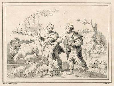 Two Herdsmen-Maarten de Vos-Giclee Print