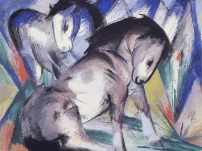 Two Horses, 1913-Franz Marc-Giclee Print