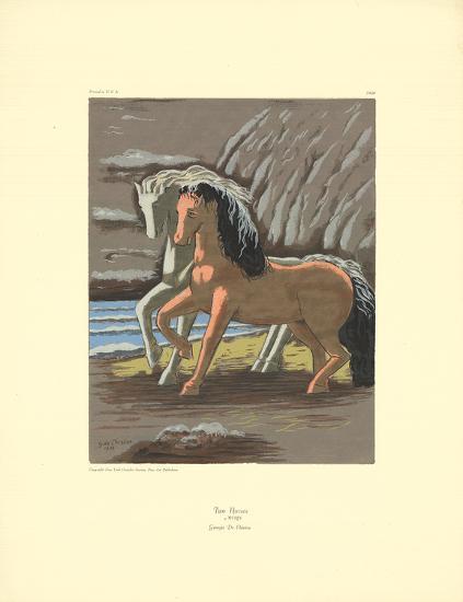 Two Horses-Giorgio De Chirico-Serigraph