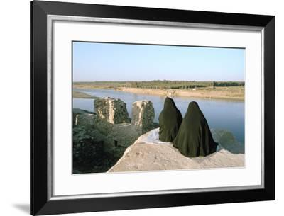 Two Iraqi Women at Bash Tapia Castle, Mosul, Iraq, 1977-Vivienne Sharp-Framed Photographic Print