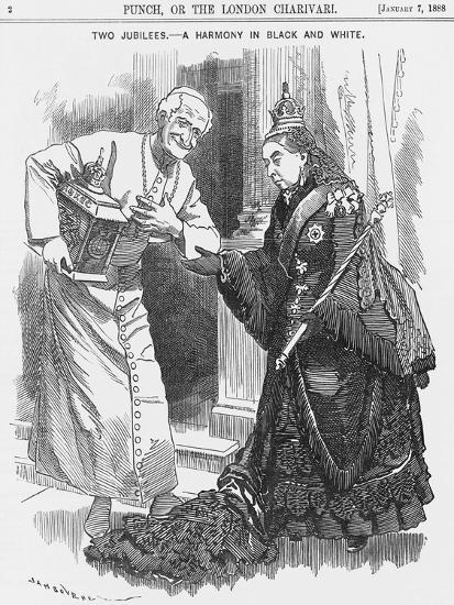 Two Jubilees - a Harmony in Black and White, 1888-Edward Linley Sambourne-Giclee Print