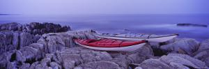Two Kayaks on a Cliff, Cherry Hill, Nova Scotia, Canada