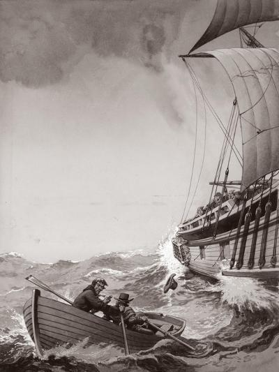 Two King's Messengers Attempt to Row into the Harbour at Calais-Pat Nicolle-Giclee Print