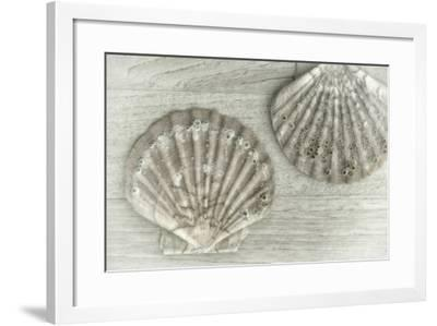 Two King Scallop Shells-Cora Niele-Framed Photographic Print