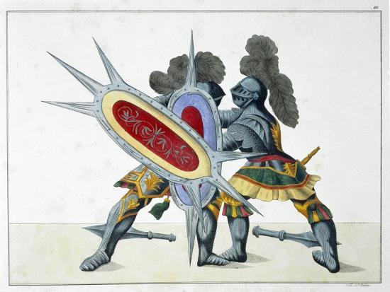 Two knights fighting on foot, 1842-Friedrich Martin von Reibisch-Giclee Print