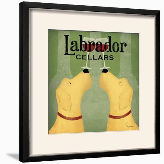 Two Labrador Wine Dogs Square-Ryan Fowler-Framed Photographic Print