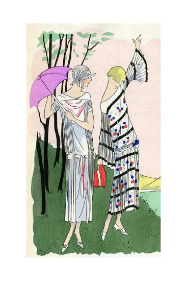 Two Ladies in Outfits by Doucet and Martial Et Armand--Giclee Print
