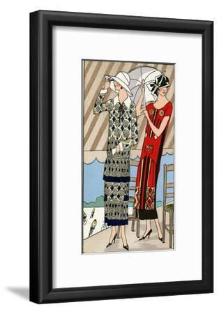 Two Ladies in Outfits by Lucien Lelong and Jean Patou