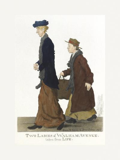 Two Ladies of Walham Avenue-George Belcher-Premium Giclee Print