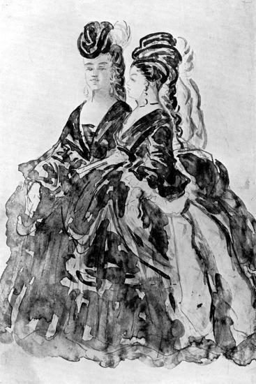 Two Ladies-Constantin Guys-Giclee Print