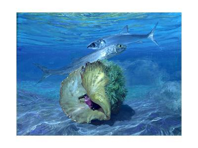 Two Ladyfish and Sinistral Conch, 1992-Stanley Meltzoff-Giclee Print