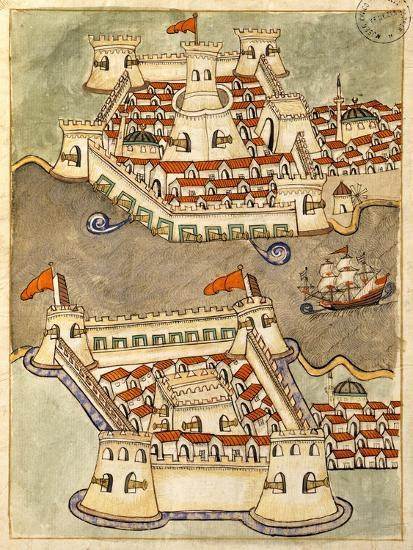Two Large Fortresses on the Bosphorus; One on the Greek Side and the Other in Anatolia--Giclee Print