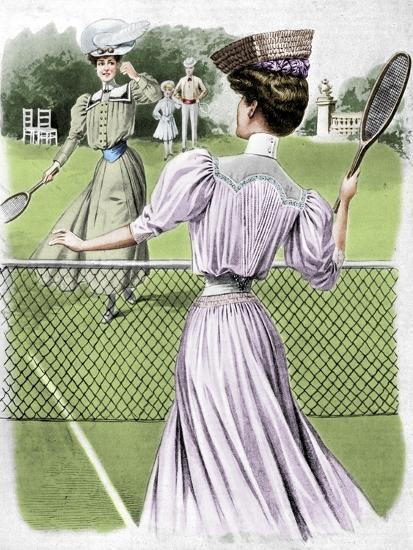 Two lawn tennis costumes for October, 1905-Unknown-Giclee Print