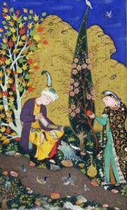 Two Lovers in a Flowering Orchard, circa 1540-50