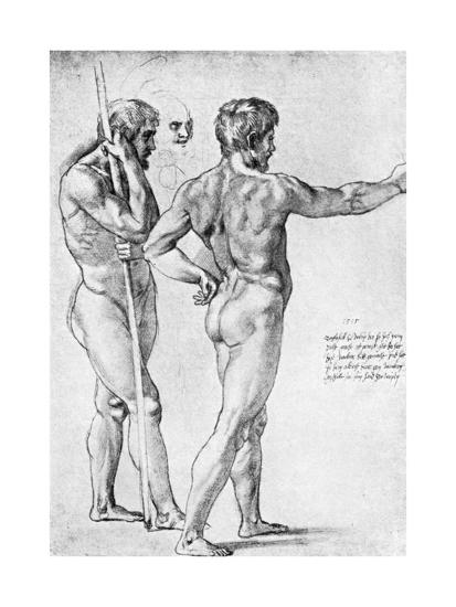 Two Male Nude Studies, 1515-Raphael-Giclee Print