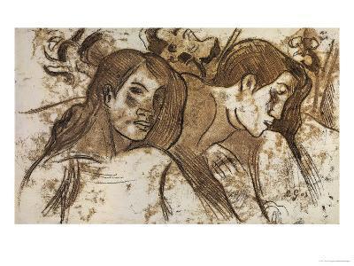 'Two Marquesans', 1902-Paul Gauguin-Giclee Print