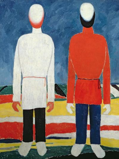 Two Masculine Figures, 1928-32-Kasimir Malevich-Giclee Print