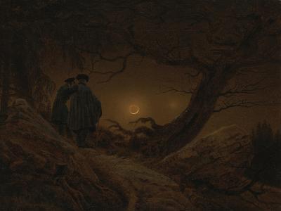 Two Men Looking at the Moon, 1819/1820-Caspar David Friedrich-Giclee Print
